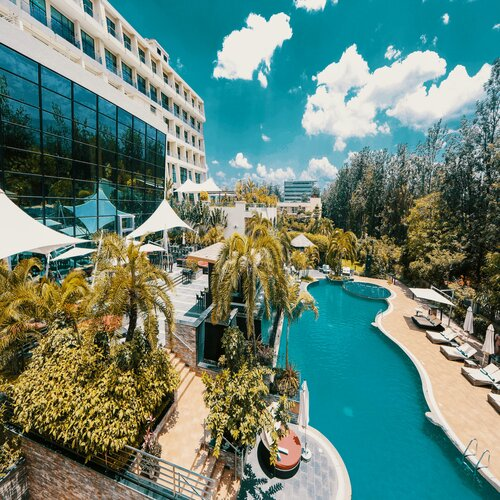 Hotel view in Rwanda
